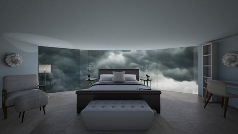 Stormy Day Bedroom - Bedroom  - by dogsrmylife