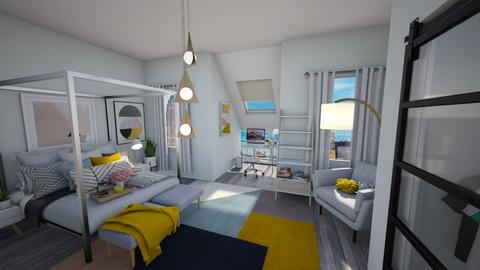 Calm Studio View 2 - Modern - Bedroom - by musicdesign22