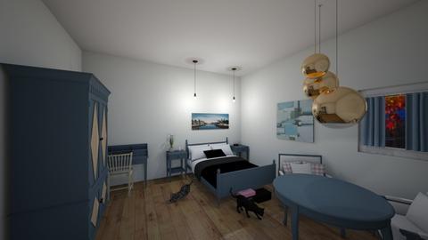 Blue Bedroom - Bedroom  - by Marzbar3
