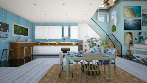 Blue House_Kitchen - Eclectic - Kitchen  - by Laurika
