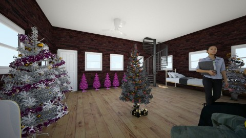 xmas last year  - Glamour - Living room - by sillypuppy lee