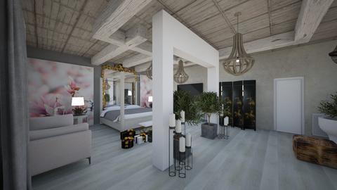 BedRoom_Hotel_Interior_ - Eclectic - Bedroom  - by Nikos Tsokos