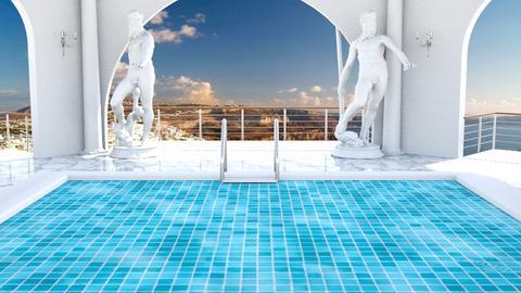 Greek Hotel Pool - by SammyJPili