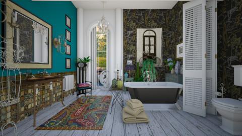 Bohemian BathR - Feminine - Bathroom  - by janip