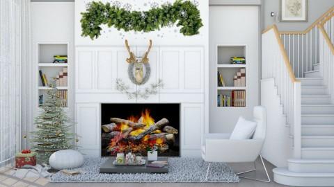 M_Minimal Christmes - Living room  - by milyca8