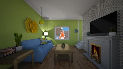 Be Happy - Living room - by chocolatedonut71