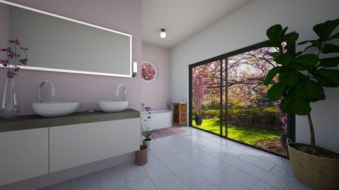 Cherry Blossom Bathroom - Bathroom  - by Marion_