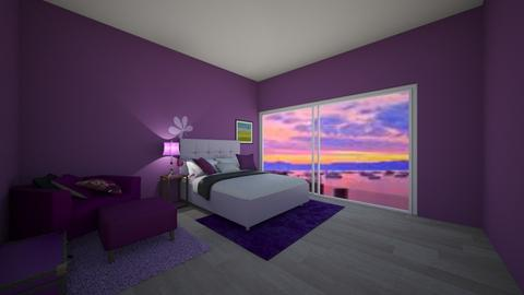 Purple vibes - Feminine - Bedroom  - by Itsavannah