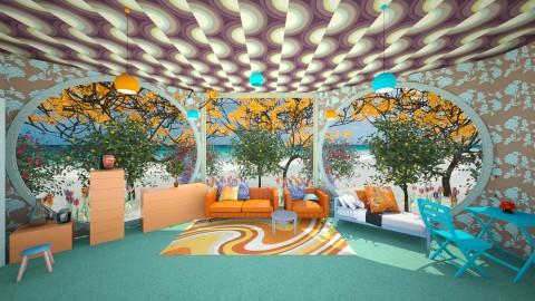 CitrusRoom - Retro - Bedroom  - by lori gilluly