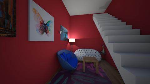 modern playful hallway - Modern - by turtleolee