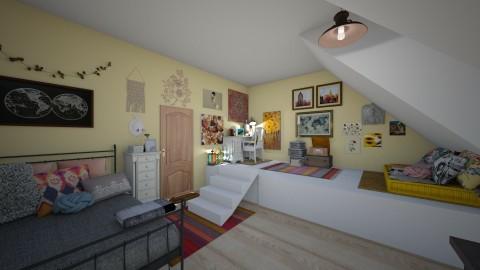 Teens artsy bedroom - by alyssaamegann