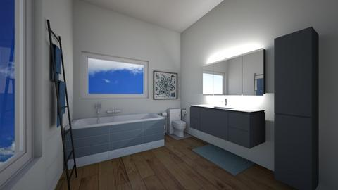 Blue Themed Bathroom - Classic - Bathroom  - by Mazzz02