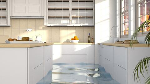 Flooded greek - Rustic - Kitchen  - by itsbinflooded