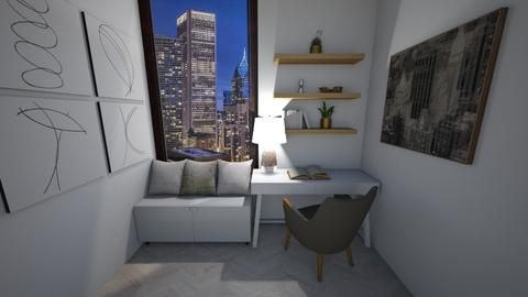 Window Seat City Skyline - Modern - Office  - by Rinnah02