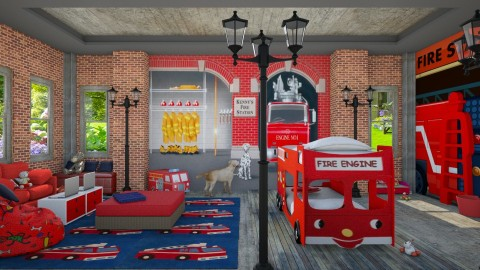 Design 63 Two Little Firemen - Kids room  - by Daisy320