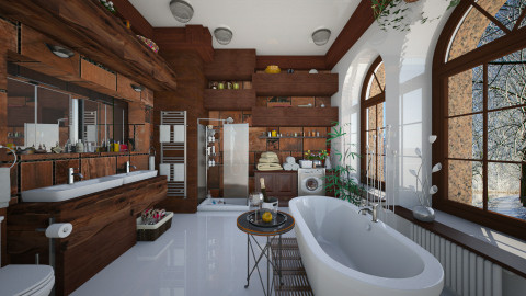 virtual - Eclectic - Bathroom  - by Ida Dzanovic