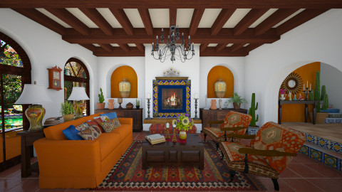 Mexican Design - Rustic - Living room  - by maja97