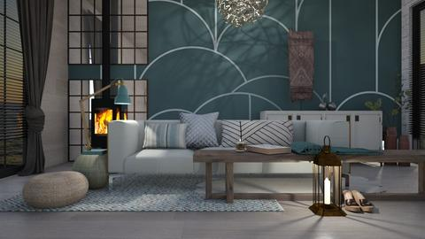 Turquoise Metal Living - Living room - by KimAlys