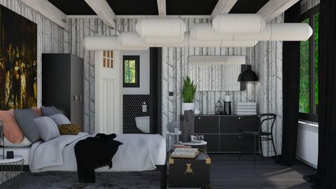 Noir et Blanc - Modern - Bedroom  - by HenkRetro1960