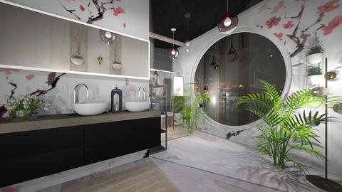 Cherry Blossom Bathroom - Eclectic - Bathroom  - by WeLoveU