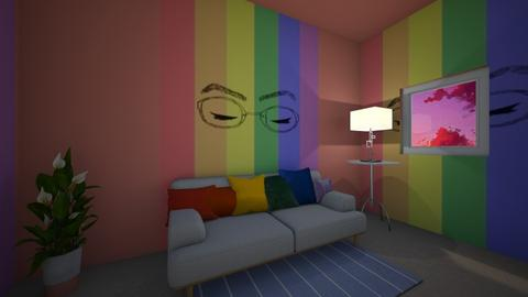 rainbow chill - Living room  - by dontcallmeangel