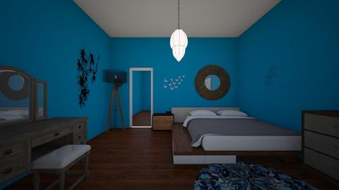 Blue bedroom - Classic - Bedroom  - by Itsavannah