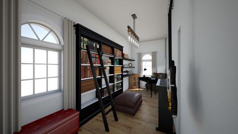 new home office music - Minimal - Office  - by Stephanie Felix