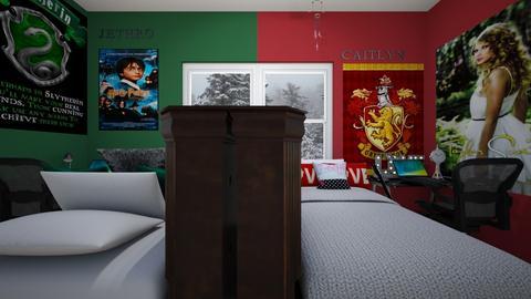 Fraternal Twins Bedroom 4 - Bedroom - by SammyJPili