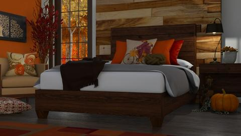 autumn bed - Bedroom  - by RaeCam