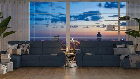 City Viewww - Living room  - by KittyT6