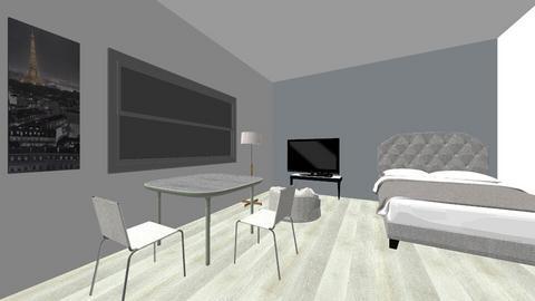 modern grey bedroom - Modern - Bedroom  - by TimmyDesigner