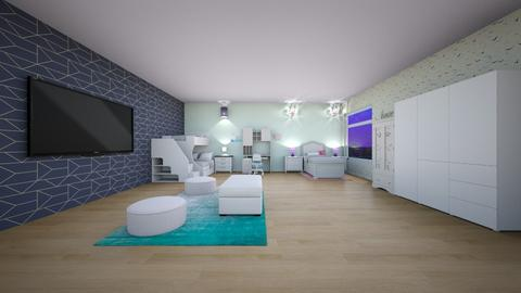 Modern kid bedroom - Modern - Kids room  - by VanillaBluePearlCloud2008