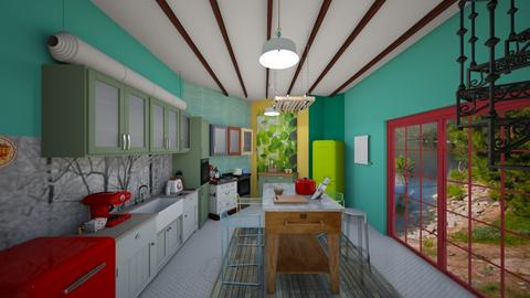 colorful kitchen - Eclectic - Kitchen - by Rho