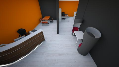 Orange Office - Eclectic - Office  - by riordan simpson