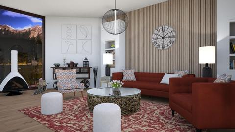 wood wall - Living room  - by Martina0205