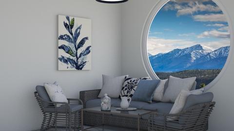Peaceful blue living - Classic - Living room  - by Oyisha