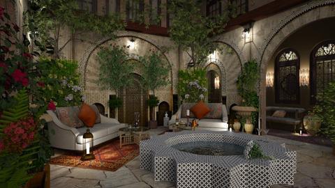 Inner Garden in Morocco - by ZsuzsannaCs