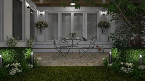 White Patio - Garden  - by GraceKathryn