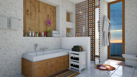 Banheiro  - Glamour - Bathroom  - by Mariesse Paim