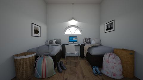 2 Dorm - Modern - Bedroom  - by matildabeast