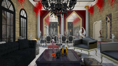 Halloween Glam - Glamour - Living room  - by giulygi