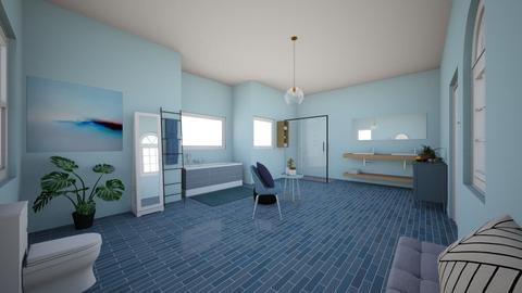 Blue bathroom - Bathroom  - by Chayjerad