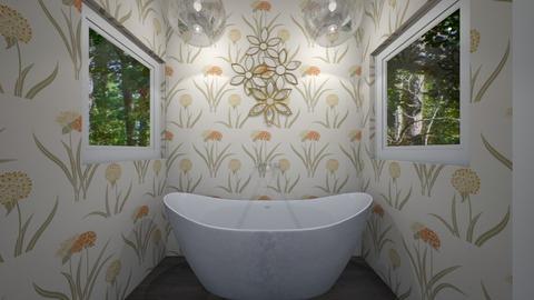 Flowered Bathroom - Bathroom  - by Tasteful Turtle