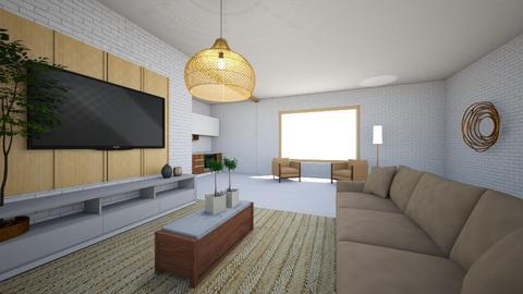 Sala de estar rustico  - Living room  - by alicia vieira