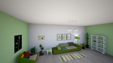green livingroom - Vintage - Living room  - by annaa5