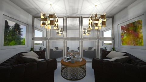 Mirrored - Classic - Living room  - by millerfam