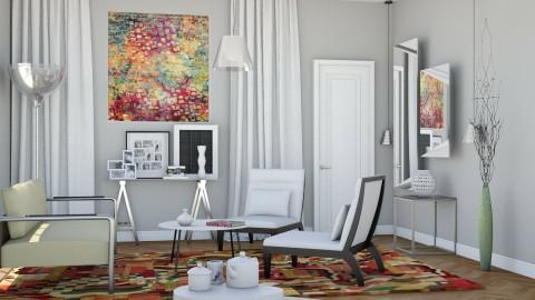 M_ Multi rug and art - Modern - Living room  - by milyca8