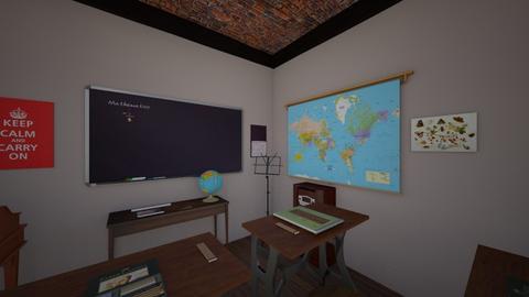 School Room - Retro - by PeculiarLeah