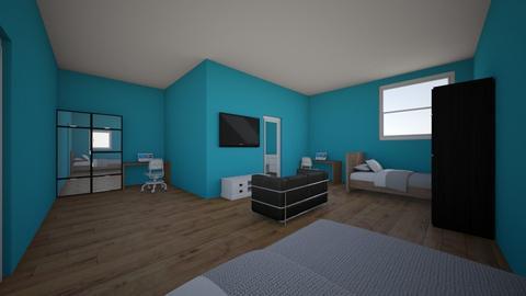 Twin Boys Bedroom - Modern - Bedroom  - by Fawzzy Rocks