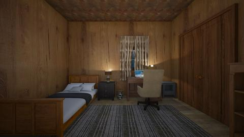 Forest Cabin - Bedroom  - by mspence03